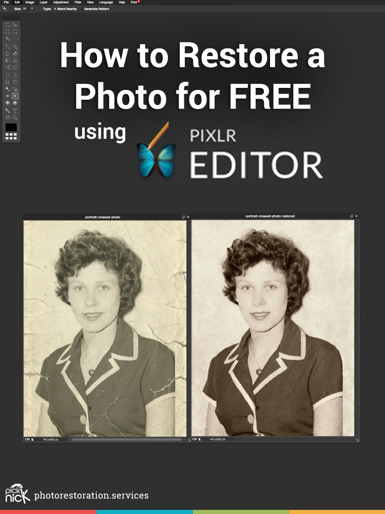 How to restore a photo using Pixlr