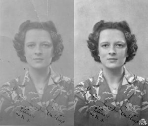 gift for 100yr old photo restored