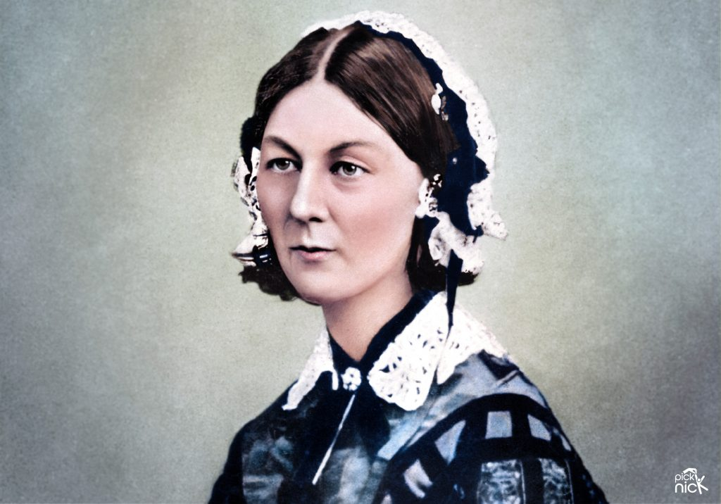 Colourised photo of Florence Nightingale